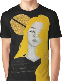 Yellow Glitter Graphic T-Shirt