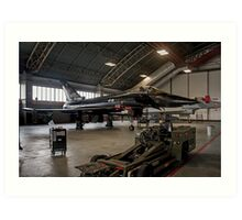 The Black Beast grounded at Coningsby Art Print