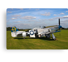 "P-51D Mustang 44-72035 ""Jumpin' Jacques"" Canvas Print"