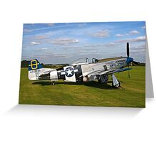 "P-51D Mustang 44-72035 ""Jumpin' Jacques"" Greeting Card"