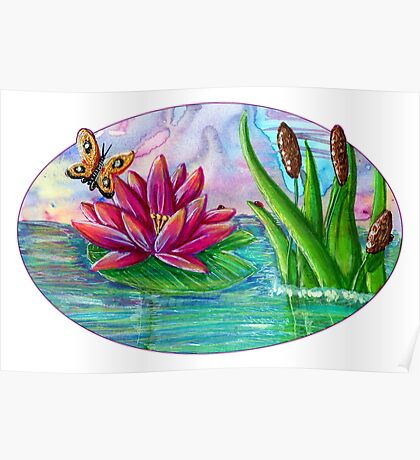 Waterlily [Patch Design] Poster
