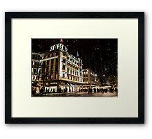 Paradeplatz by Night Framed Print
