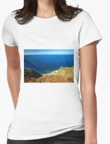 Calm Ocean Coast - Travel Photography  Womens Fitted T-Shirt
