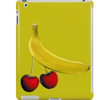 Funny banana and dangly cherries iPad Case/Skin