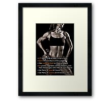 How To Lose Weight (Women's Fitness Infographic) Framed Print