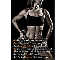 How To Lose Weight (Women's Fitness Infographic) Photographic Print