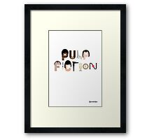 Pulp Fiction Characters Framed Print