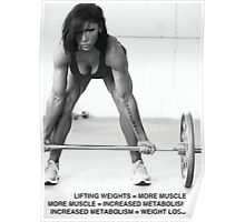 Lifting Weights (Benefits For Women) Poster