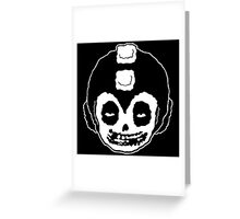 MEGA MAN MISFITS SKULL Greeting Card