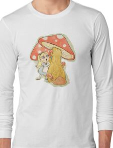 Alice and the Giant Mushrooms Long Sleeve T-Shirt