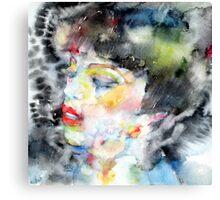 LADY FARFALLA Canvas Print