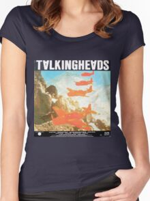Talking Heads Vinyl Artwork Women's Fitted Scoop T-Shirt