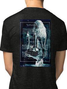 ink on very old paper negativ scan Tri-blend T-Shirt