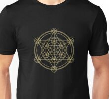 Metatron's Cube T-Shirt. Sacred Geometry Yoga Flower Of Life  Unisex T-Shirt