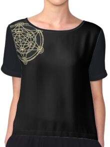 Metatron's Cube T-Shirt. Sacred Geometry Yoga Flower Of Life  Chiffon Top