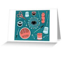 pins and needles Greeting Card