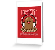Diglett the Red Nosed Ground Type Greeting Card