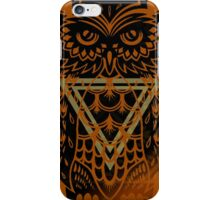 Hooty Hoo - Version 5 (Gold Triangle) iPhone Case/Skin