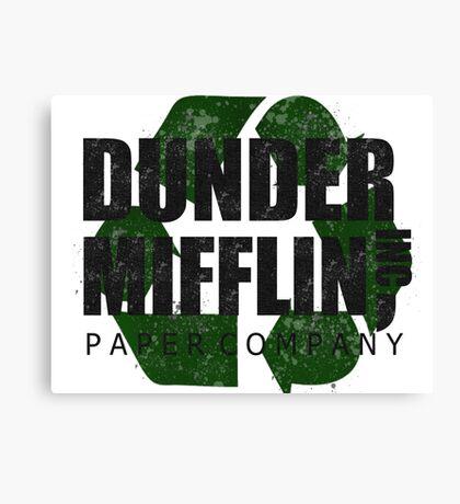 Dunder Mifflin Recycle Logo Canvas Print