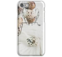 Quail eggs with feather iPhone Case/Skin