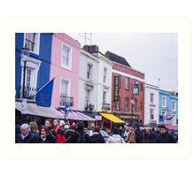 Portobello Road's colorful buildings Art Print