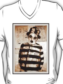 old book drawing famous charles chaplin T-Shirt