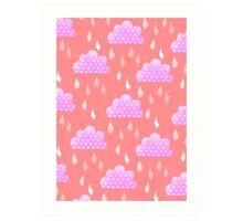 Rain Clouds (Pink) Art Print