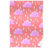 Rain Clouds (Pink) Poster