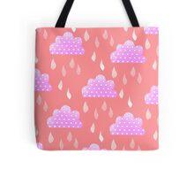 Rain Clouds (Pink) Tote Bag