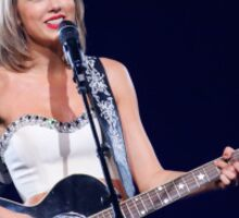 Taylor Swift and Guitar Sticker