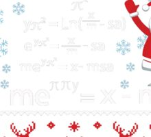 Funny Pi Math Equation Christmas Sweater Teacher Sticker