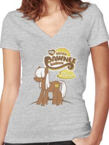 My Little Pawnee Women's Fitted V-Neck T-Shirt