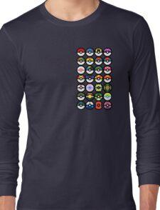 Pokémon - Pokeballs Long Sleeve T-Shirt