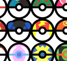 Pokémon - Pokeballs Sticker