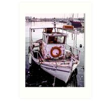 Greek Islands - fishing boat Art Print