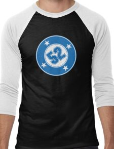 Number 52 with a Bullet Men's Baseball ¾ T-Shirt