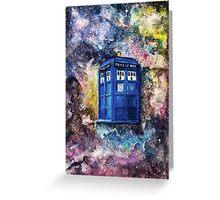 TARDIS in space watercolour art  Greeting Card