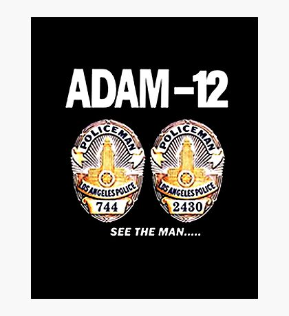 Adam-12 TV Series 70's Retro Photographic Print