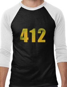 Vintage 412 (Pittsburgh Area Code) Men's Baseball ¾ T-Shirt