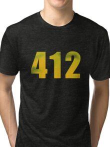 Vintage 412 (Pittsburgh Area Code) Tri-blend T-Shirt