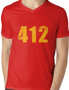 Vintage 412 (Pittsburgh Area Code) Mens V-Neck T-Shirt