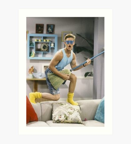 Zack Morris - Saved by the Bell Art Print