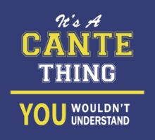 It's A CANTE thing, you wouldn't understand !! by satro
