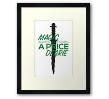 Once Upon a Time Magic Framed Print