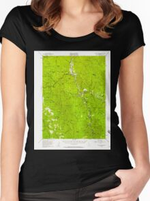 USGS TOPO Map California CA Willow Creek 302000 1952 62500 geo Women's Fitted Scoop T-Shirt