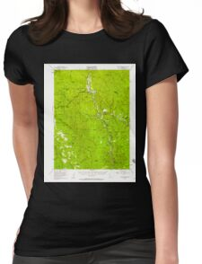 USGS TOPO Map California CA Willow Creek 302000 1952 62500 geo Womens Fitted T-Shirt