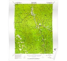 USGS TOPO Map California CA Willow Creek 302000 1952 62500 geo Poster