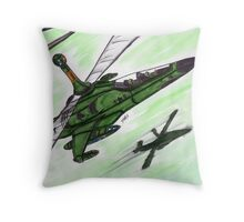 Sparrows to the Front Throw Pillow