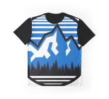 Mountain Logo Circle Graphic T-Shirt