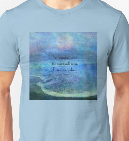 Emily Dickinson hope quote Unisex T-Shirt